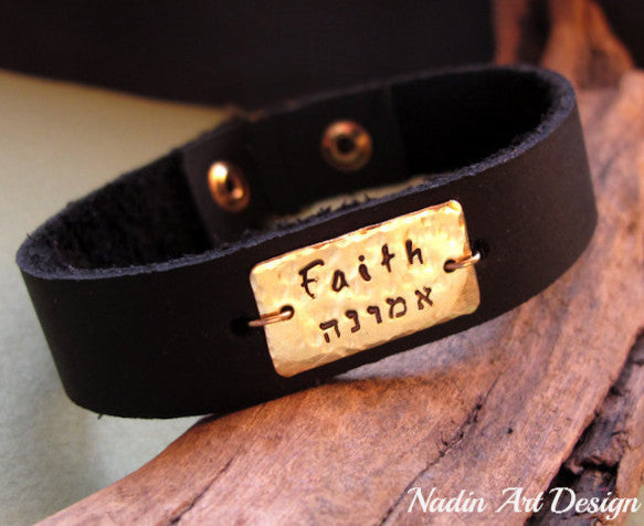 ID Personalized Leather Bracelet for Men