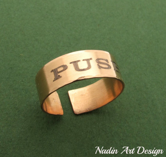 Copper name ring