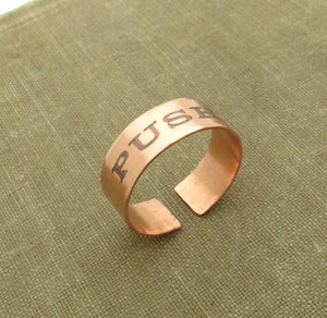 Personalized Copper ring for Men