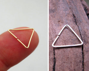 Triangle Sterling Silver Earring for Men