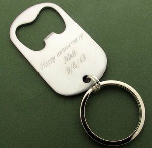 Custom Bottle Opener Keychain Opener- Personalized Key Chain for Men