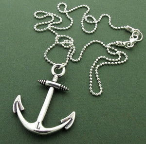 Anchor Pendant Nautical Necklace for Men