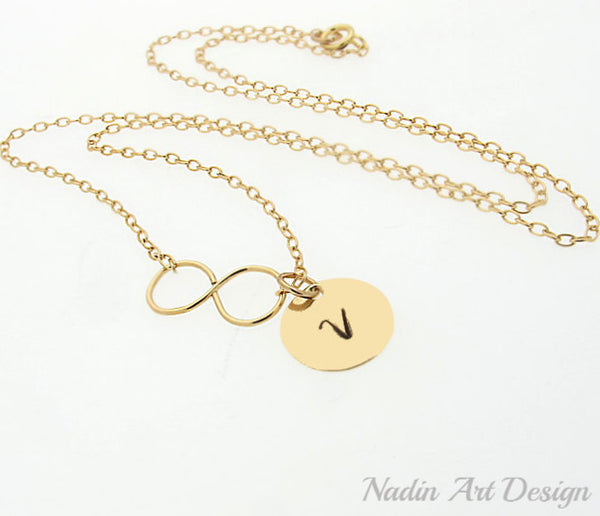 Initial Charm Gold filled Necklace