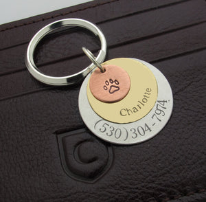 Engraved 3 Discs Key chain