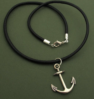 Anchor Necklace - Nautical Mens Pendant
