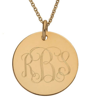 Monogram Initials Necklace