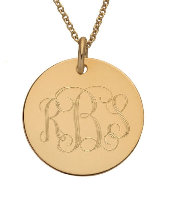 f238eeaa694cd Monogram Gold Necklace - Personalized Gift
