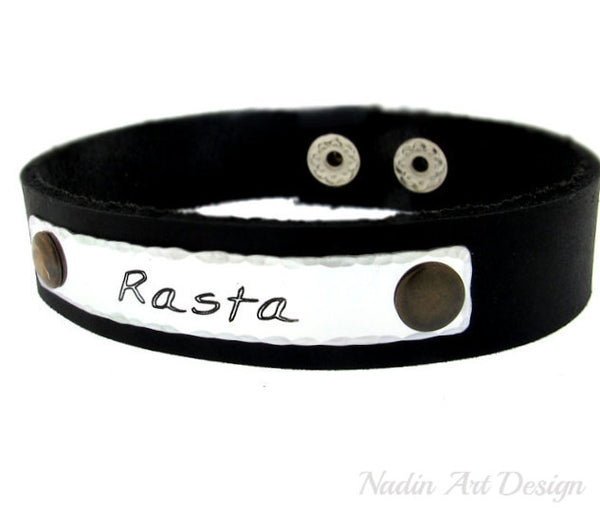 Adjustable leather cuff