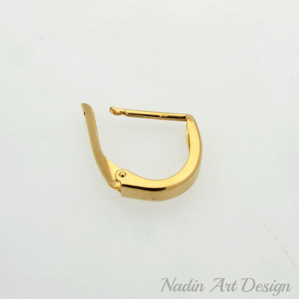 Single Large Gold Hoop for Men