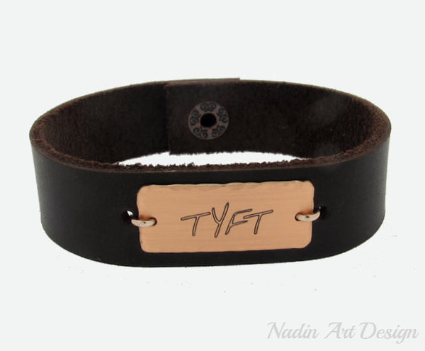 Men's Personalized Nameplate Cuff