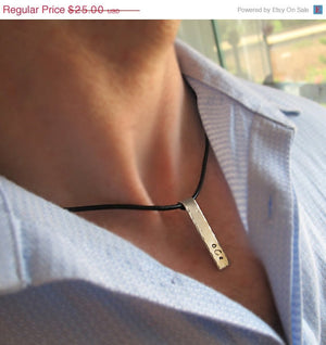 Nameplate Pendant Necklace for Men