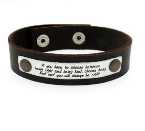 Quote Bracelet - Gift for Him