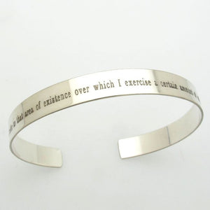 Personalized Mens Gift - Bracelet with Engraved Text