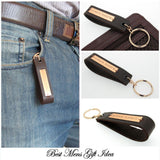 Key Chain for Men - Brown Leather Key Chain