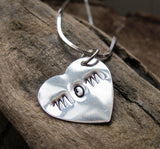 Sterling Silver Name Heart Charm Necklace