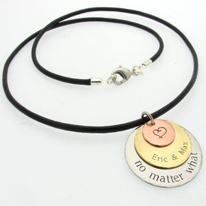 Custom Discs Pendant Necklace for Men