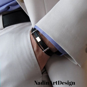 Mens Leather Cuff Bracelet