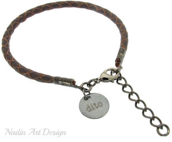 Braided bracelet with charm