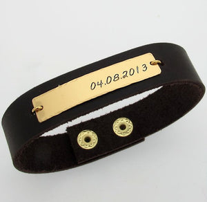 Quote Bracelet for Men - Custom Cuff