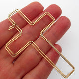 Cross Earrings - Fashion Gold Earrings