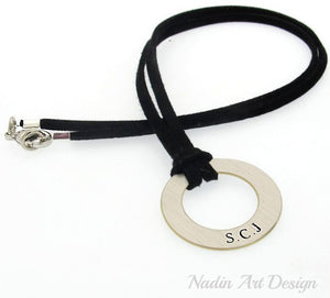 ID Initials Pendant Necklace