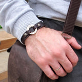 Personalized Leather Wristband for Men