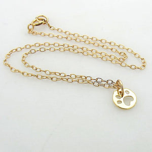 Gold Paw Charm Necklace