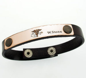 Handwriting Leather Bracelet for Men