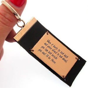 Personalized Mens Keychain - Gifts for Him