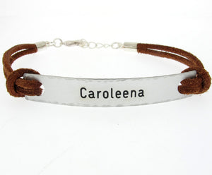 Mens Leather Bracelet - Inspirational Bracelet