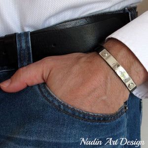 Wedding gift - Personalized Bracelet for Men