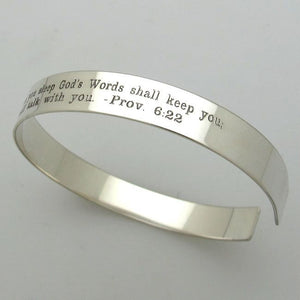 Custom engraved bracelet for - Unisex cuff