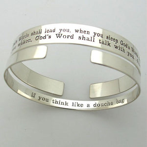 Inspirational Quote Cuffs Bangles