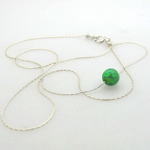 Opal Ball Bead Necklace