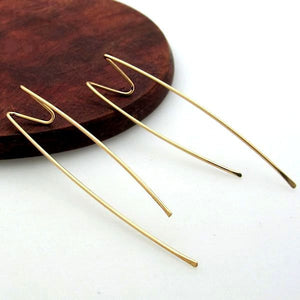Geometric Gold Threader Earrings