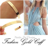Gold Polished Cuff Bracelet for Women