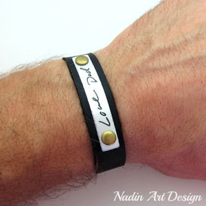 Personalized Handwriting Bracelet - Fathers Day Gift