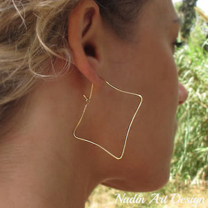 Square Geometric Earrings - Fashion Jewelry