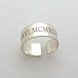 Personalized Pinky Band Ring