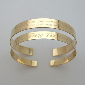 Quote Bracelet - Text Engraved Bangle