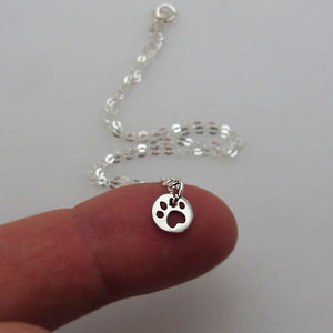 Silver Dog Paw Necklace - Pet Lovers Pendant