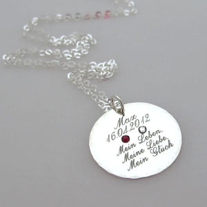 Personalized Quote Silver Necklace