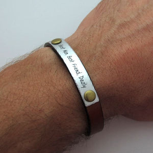 Custom Bracelet for Men - Groomsmen Gift