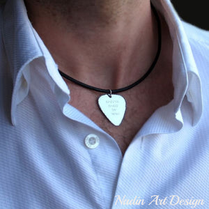 Guitar pick pendant necklace