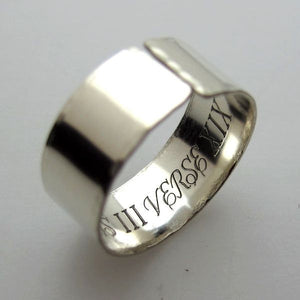 SoundWave Custom Engraved Black Ring
