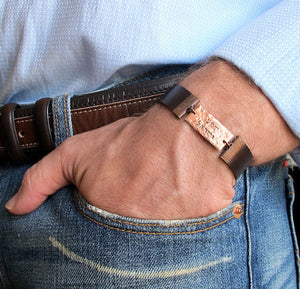 Custom Nameplate Leather Cuff for Men