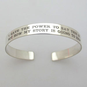 Personalized Cuff Bracelet - Motivational Gift