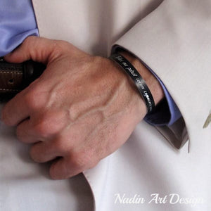 Black Id Mens Cuff