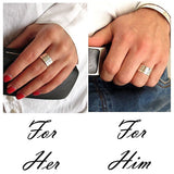 Couple Personalized Rings for Her and for Him