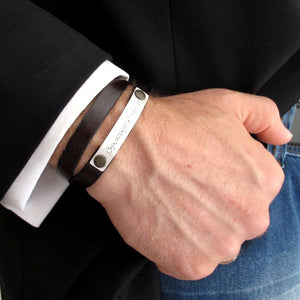 Personalized Mens Bracelet -anniversary gifts for men